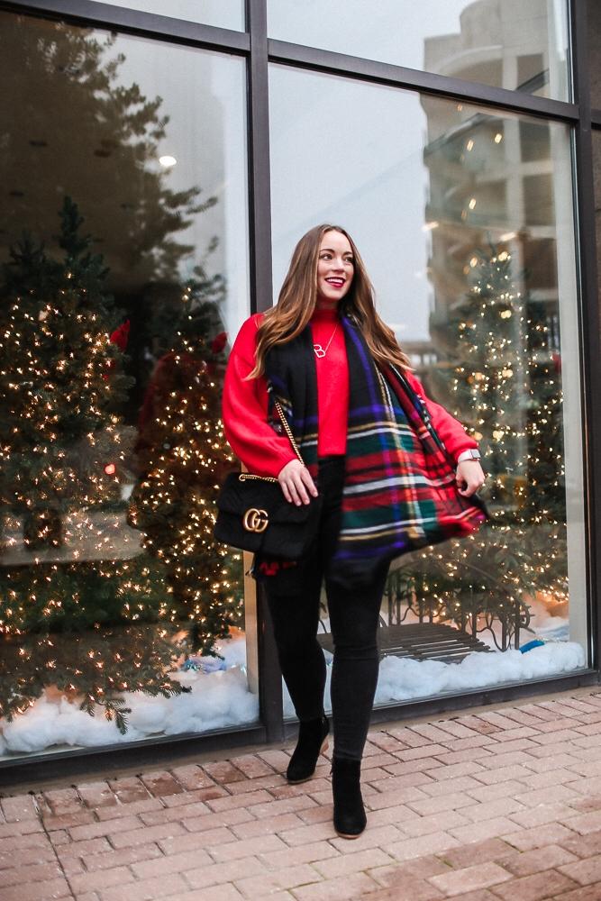 BrittanyACourtney_RedNordstormSweater_Christmas1