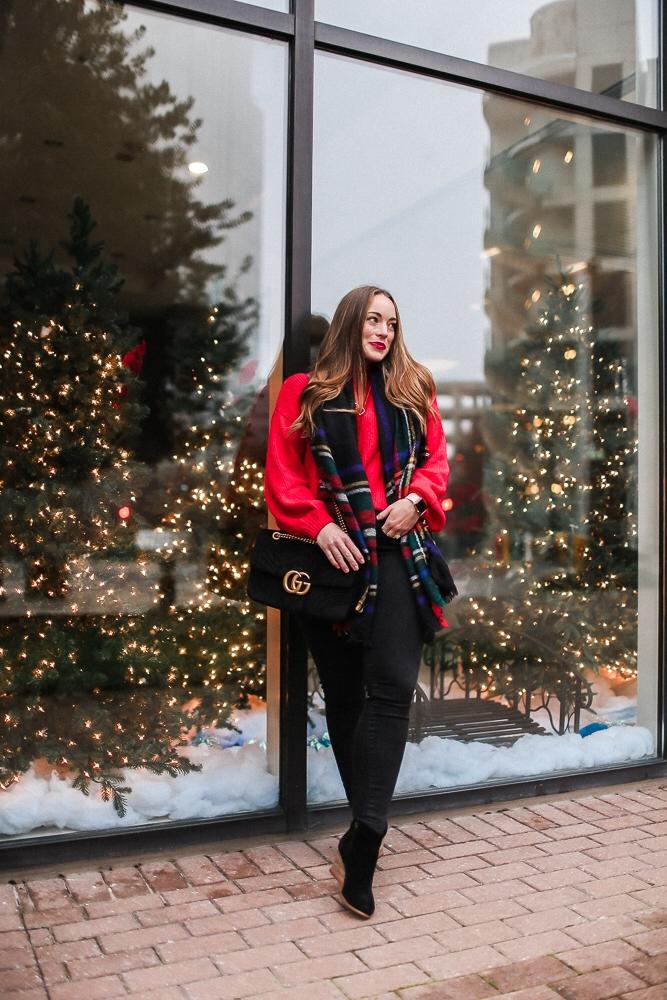 BrittanyACourtney_RedNordstormSweater_Christmas4