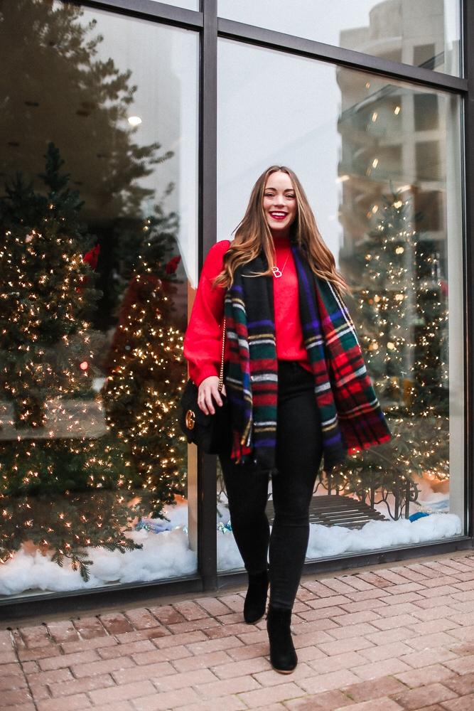 BrittanyACourtney_RedNordstormSweater_Christmas5