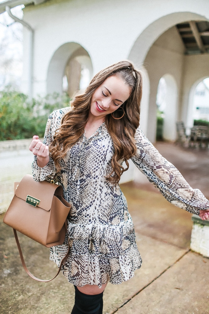 Gigi Moda Snakeskin Dress