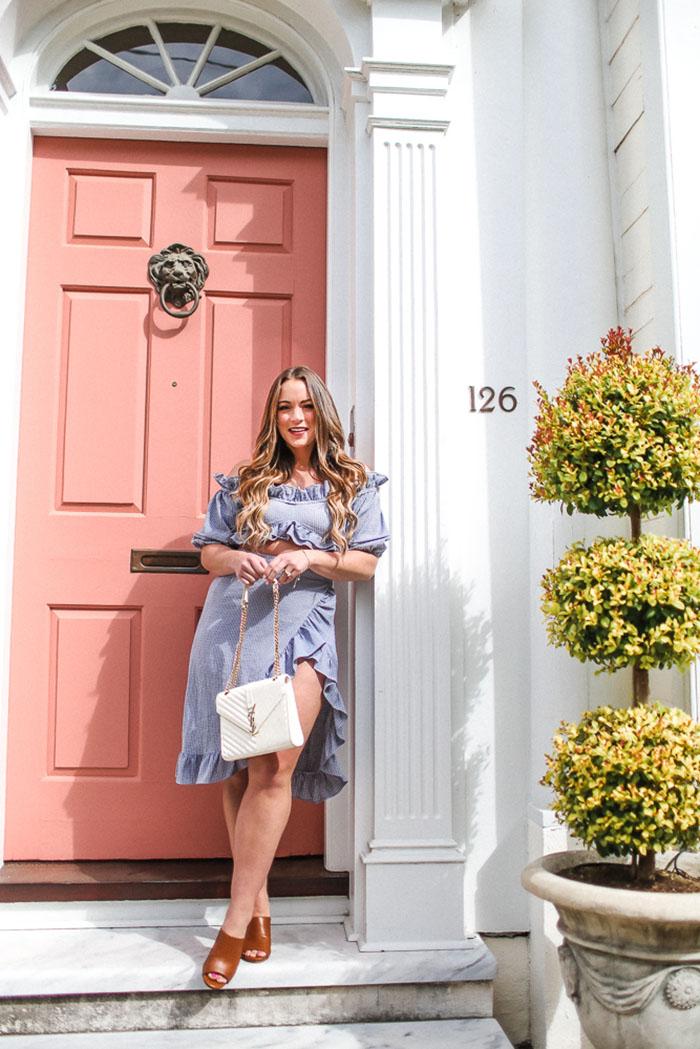 Nastygal Gingham Skirt set in Charleston