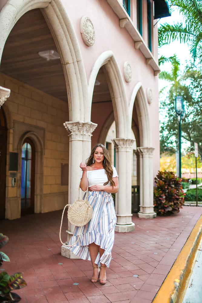 Stripe Wrap Skirt Asos Brittany Ann Courtney