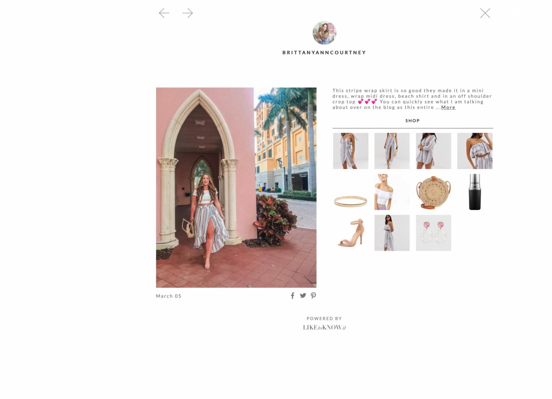 Brittany Ann Courtney Shop my Instagram Spring