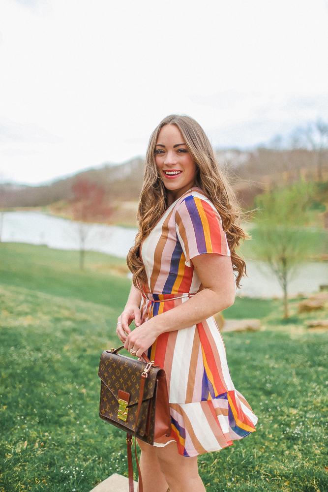 Stripe Wrap Dress for Spring