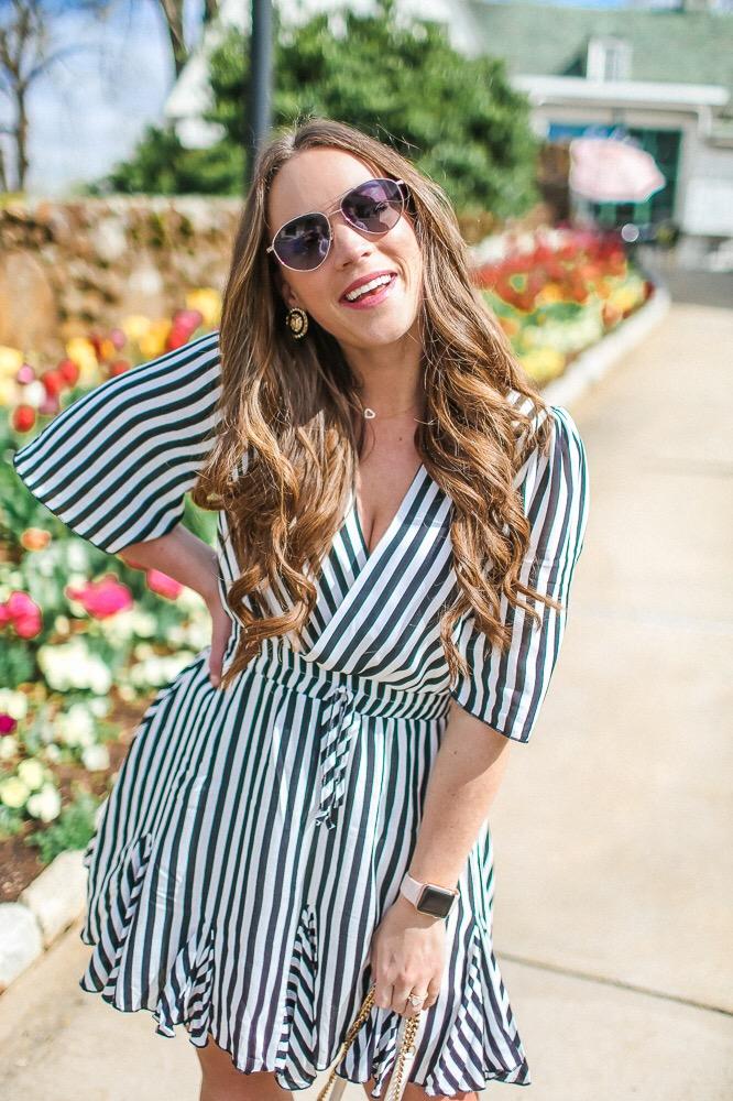 Stripe Dress  Tulips