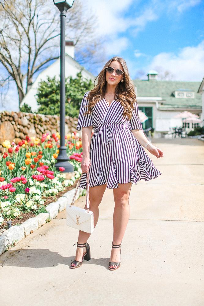 Stripe Amazon Mini Dress