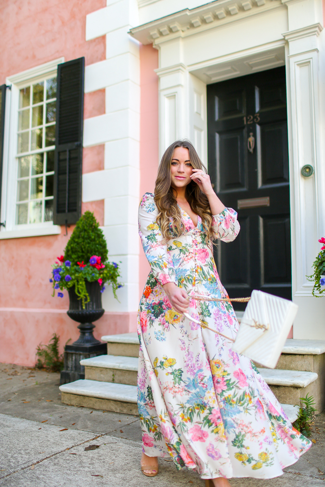 Chicwish Spring Floral Maxi Dress