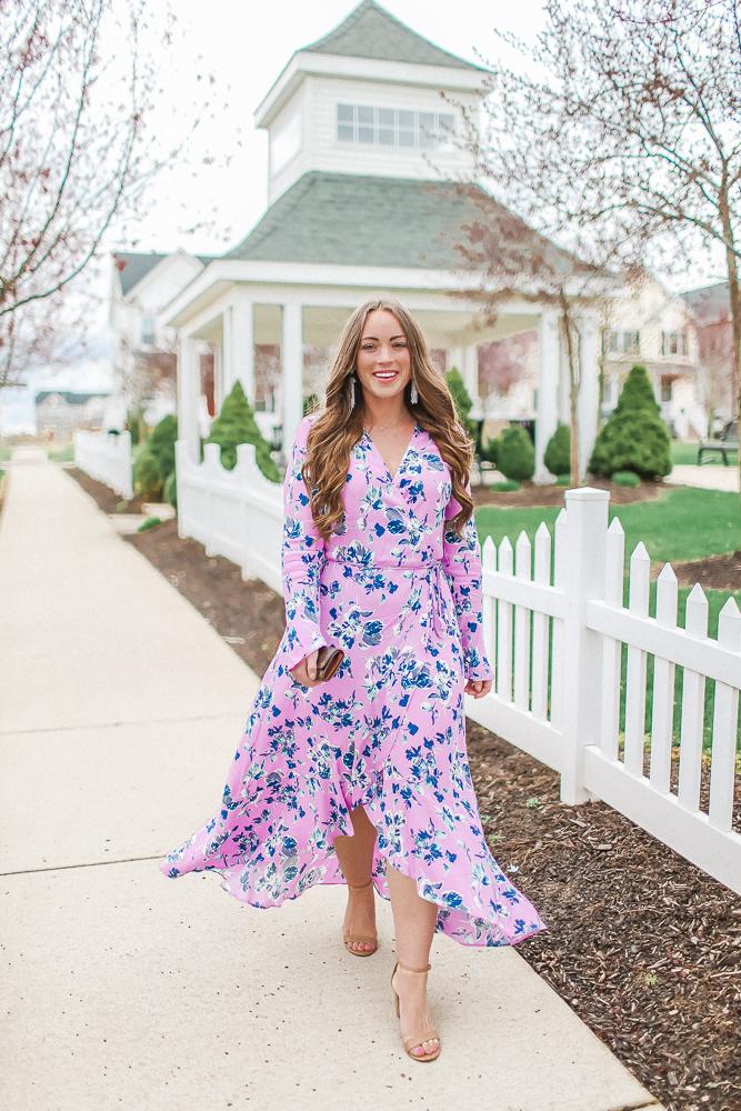 Floral Midi Easter Dress
