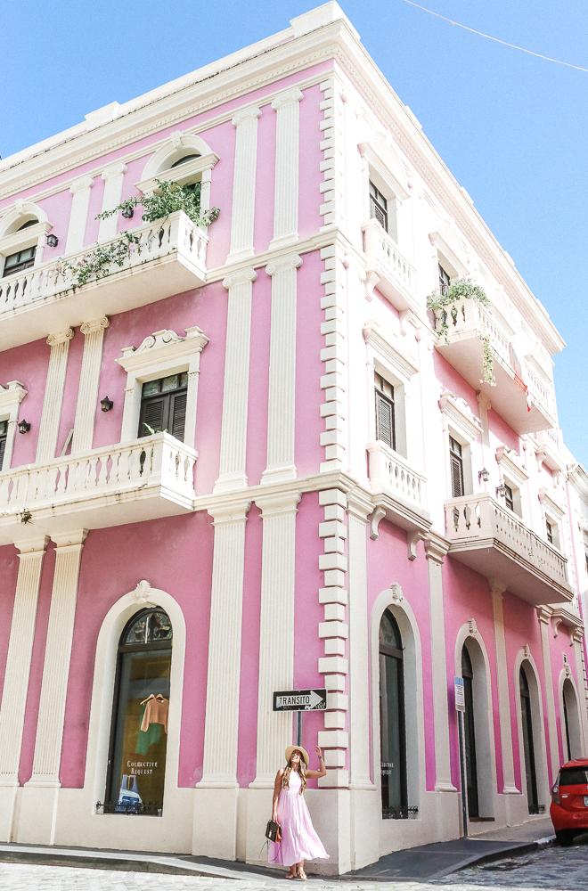 Pink Building Old San Juan